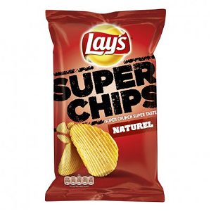 Foto Lays Ribbel Naturel Superchips