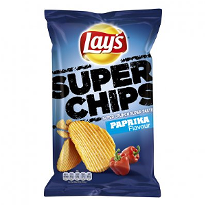 Foto Lays Ribbel Paprika Superchips